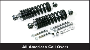 TCI All American Chrome Coil-Overs w/ Chrome Springs 400-4329-01