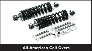 TCI All-American Chrome Coil-Overs w/ Black Springs 400-4329-00