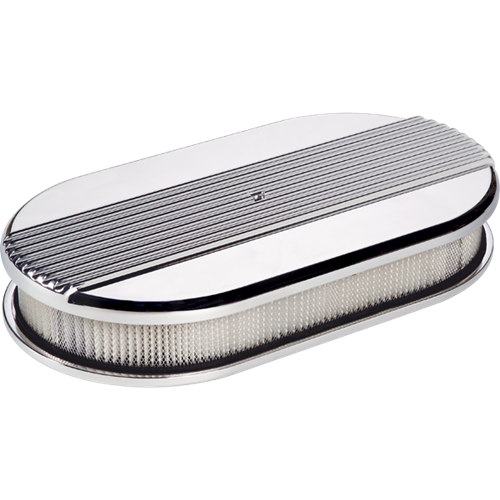Billet Specialties Large Oval Ribbed Air Cleaner P15640