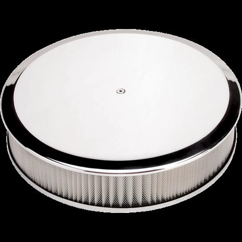 Billet Specialties Round 14-inch Diameter Plain Air Cleaner P15829