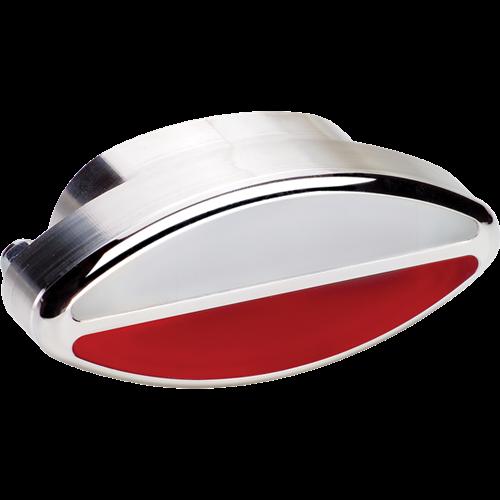 Billet Specialties Interior Door Light - Elliptical (Red/White Lens) 60420