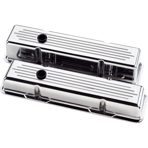 Billet Specialties Small Block Chevy Ball Milled Valve Covers (Pair) 95120