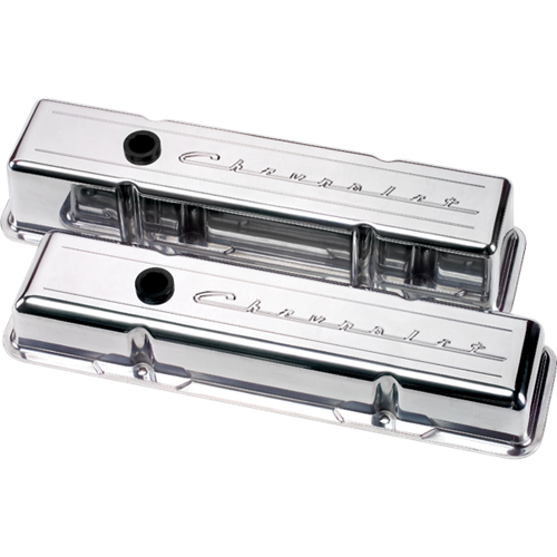 Billet Specialties Small Block Chevy - Chevrolet Script Valve Covers (Pair) 95123