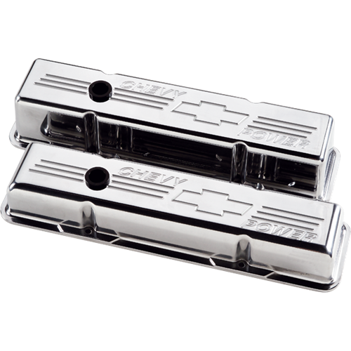 Billet Specialties Small Block Chevy - Chevy Power Valve Covers (Pair) 95122