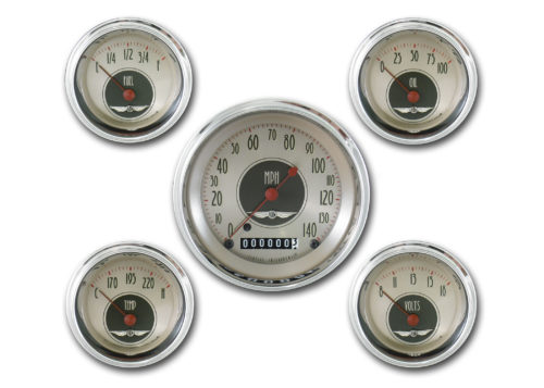 Classic Instruments 5-Gauge Set: 3 3/8-inch Speedo and 2 1/8-inch Fuel