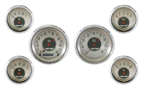 Classic Instruments 6-Gauge Set: 3 3/8-inch Speedo