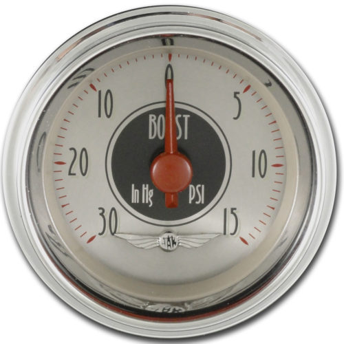 Classic Instruments Boost Gauge: 2 1/8-inch - All American Nickel Series AN08SHC