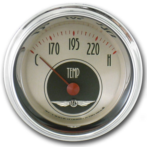 Classic Instruments Water Temperature Gauge: 2 1/8-inch - All American Nickel Series AN26SHC