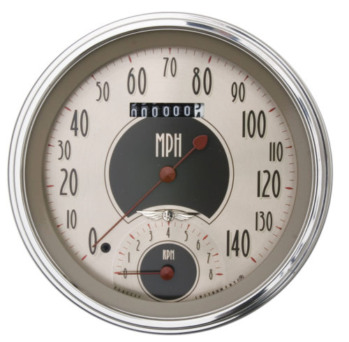 Classic Instruments Gauge: 5-inch Speedtachular (Speedo/Tach Combo) - All American Nickel Series AN50SLC
