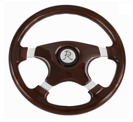 Flaming River Rum Runner Mahogany 4-Spoke Steering Wheel FR20125