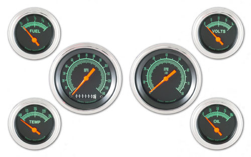 Classic Instruments 6-Gauge Set: Speedo