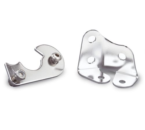 Lokar Stainless Ramjet Throttle Cable Brackets - Small Block 350