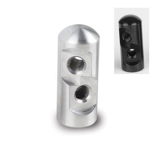 Lokar Tuned-Port Billet Aluminum Bracket with Double Stud