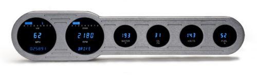 Dakota Digital 6-Gauge Universal Street Rod Panel VFD3-SIDE-6