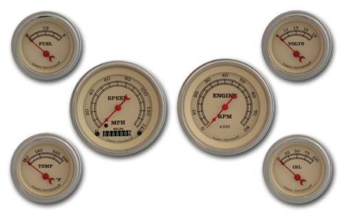 Classic Instruments 6-Gauge Set: Speedo