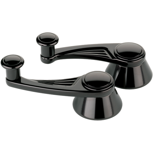 Billet Specialties Interior Vent Window Cranks - Ball Milled Black Anodized BLK47525